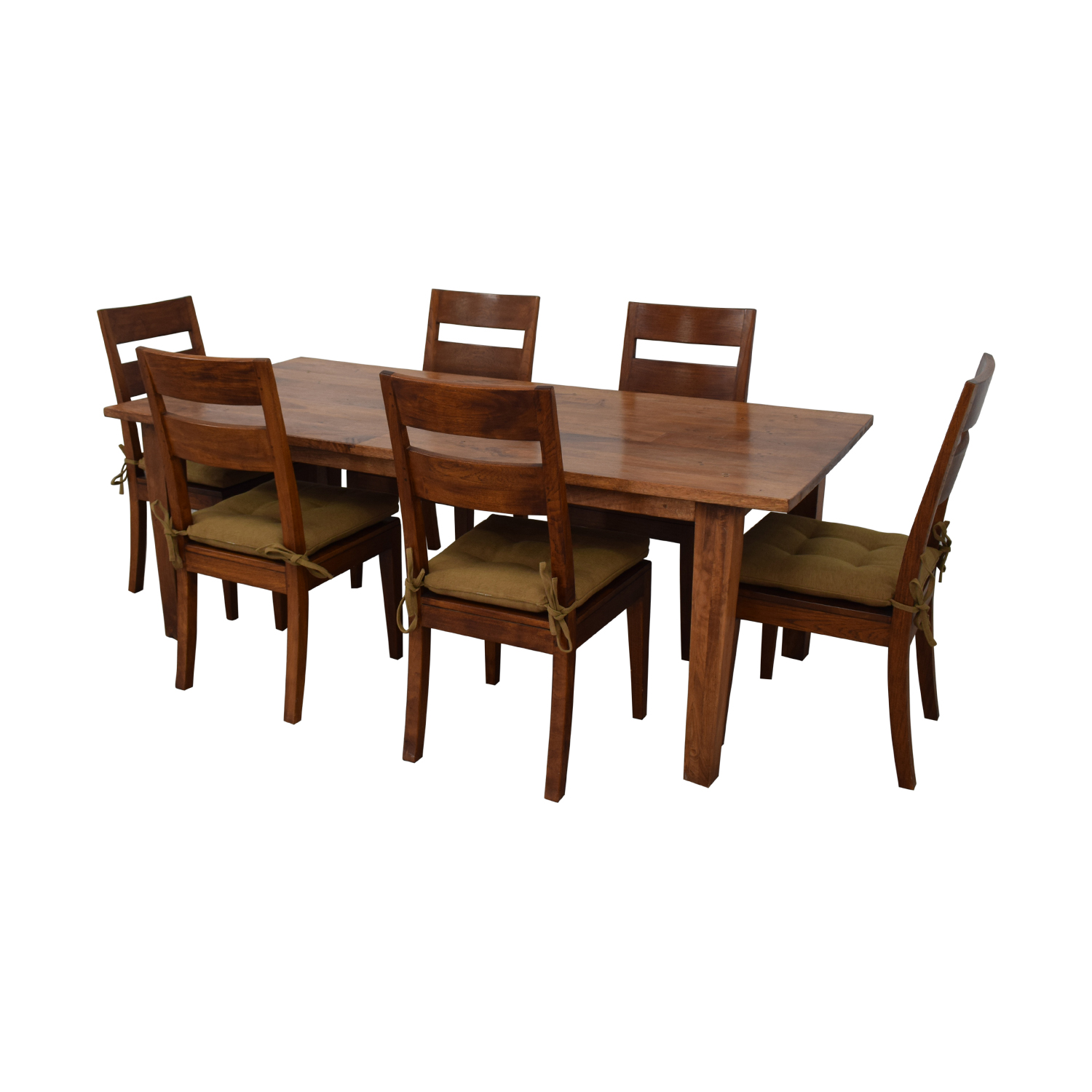 Crate & Barrel Basque Dining Table and Six Chairs Crate & Barrel