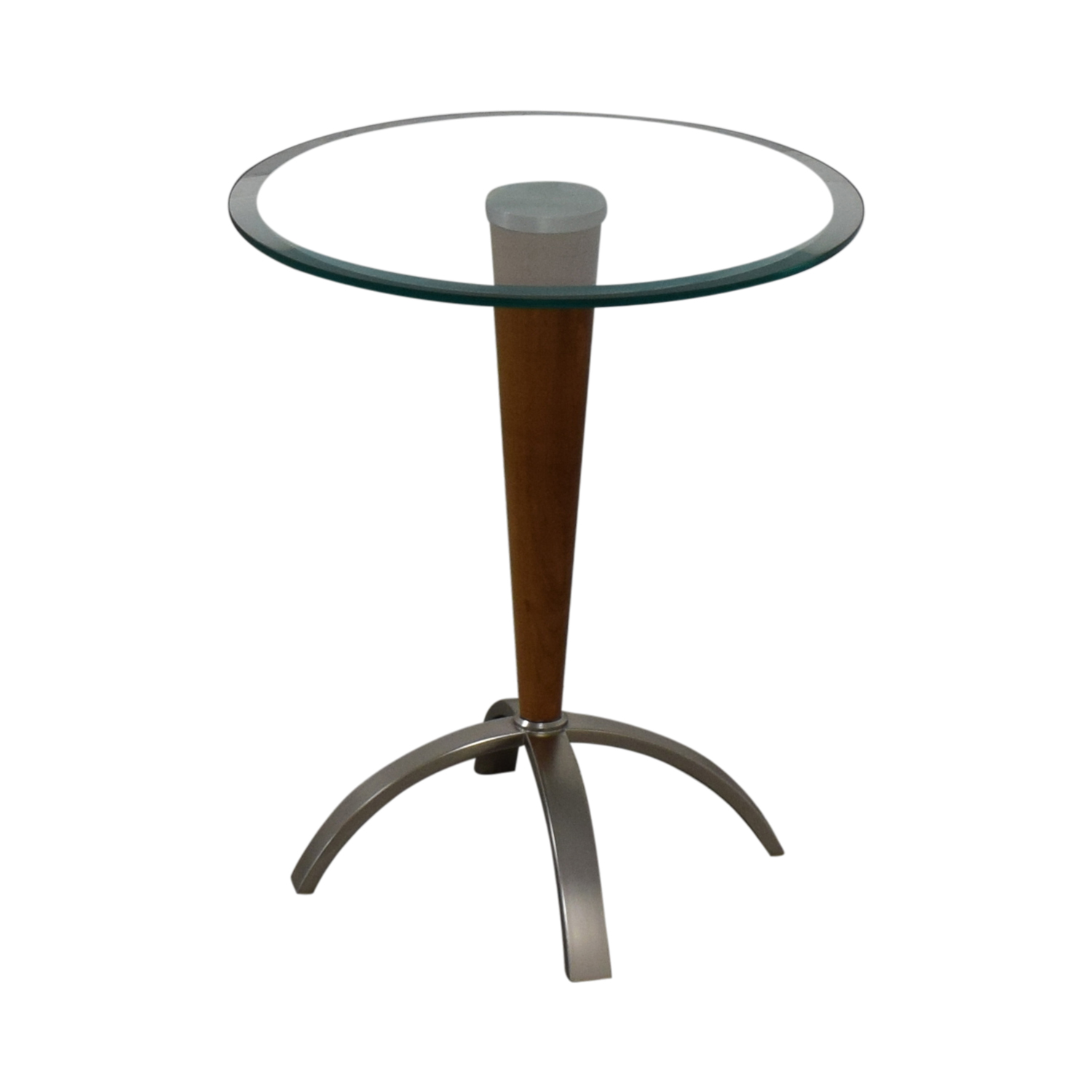 Ethan Allen Ethan Allen Glass Top Side Table End Tables
