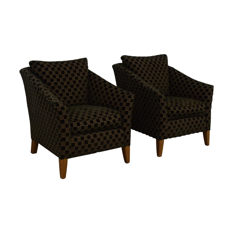 shop Ethan Allen Ethan Allen Checkered Accent Chairs online