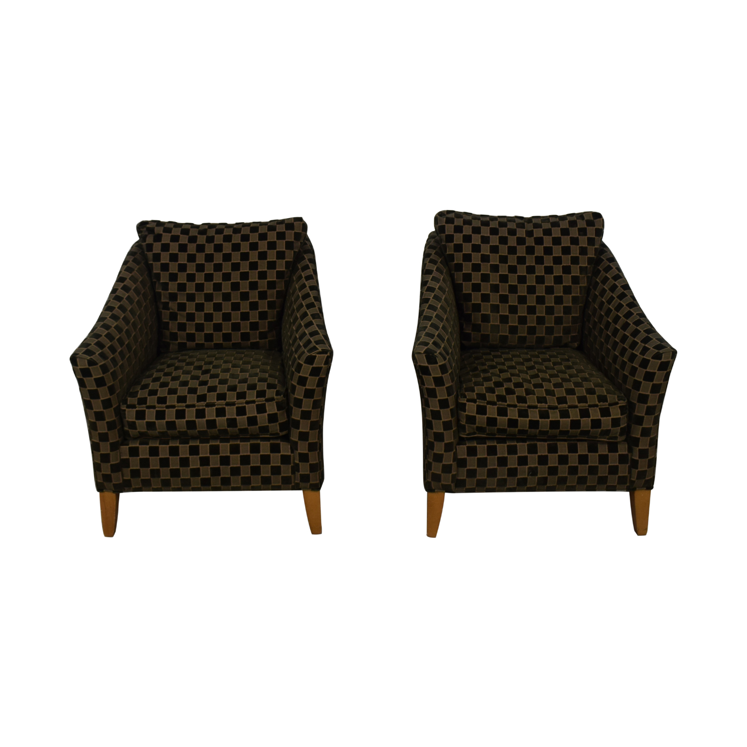 Ethan Allen Ethan Allen Checkered Accent Chairs coupon