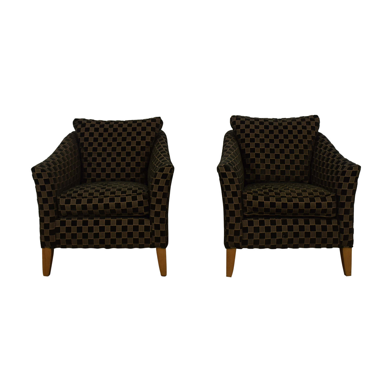 Ethan Allen Ethan Allen Checkered Accent Chairs used
