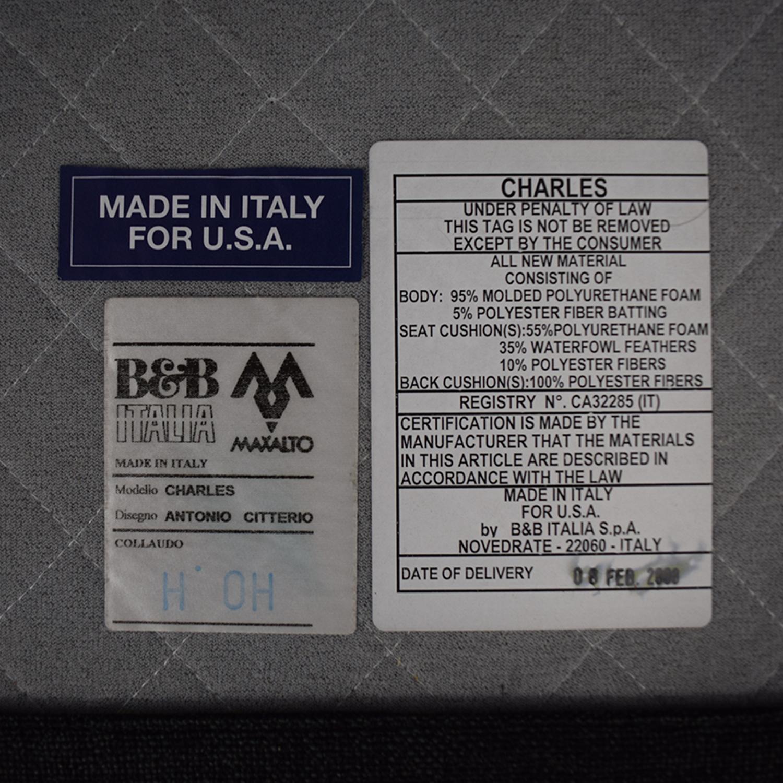 B&B Italia Charles Sofa and Ottoman B&B Italia