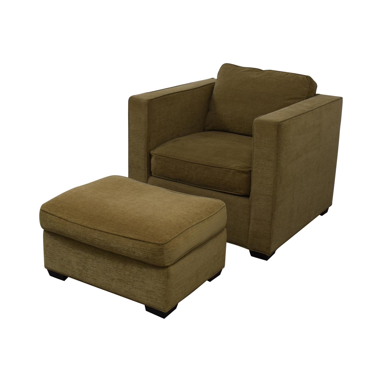 Room & Board Ian Chair And Ottoman Room & Board