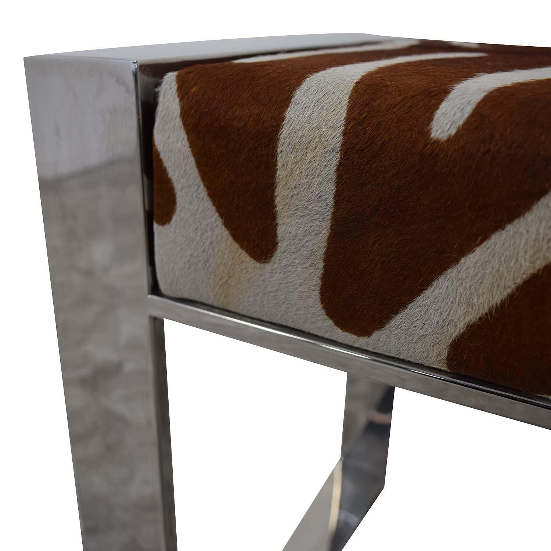 Modern Animal Print Bench Benches
