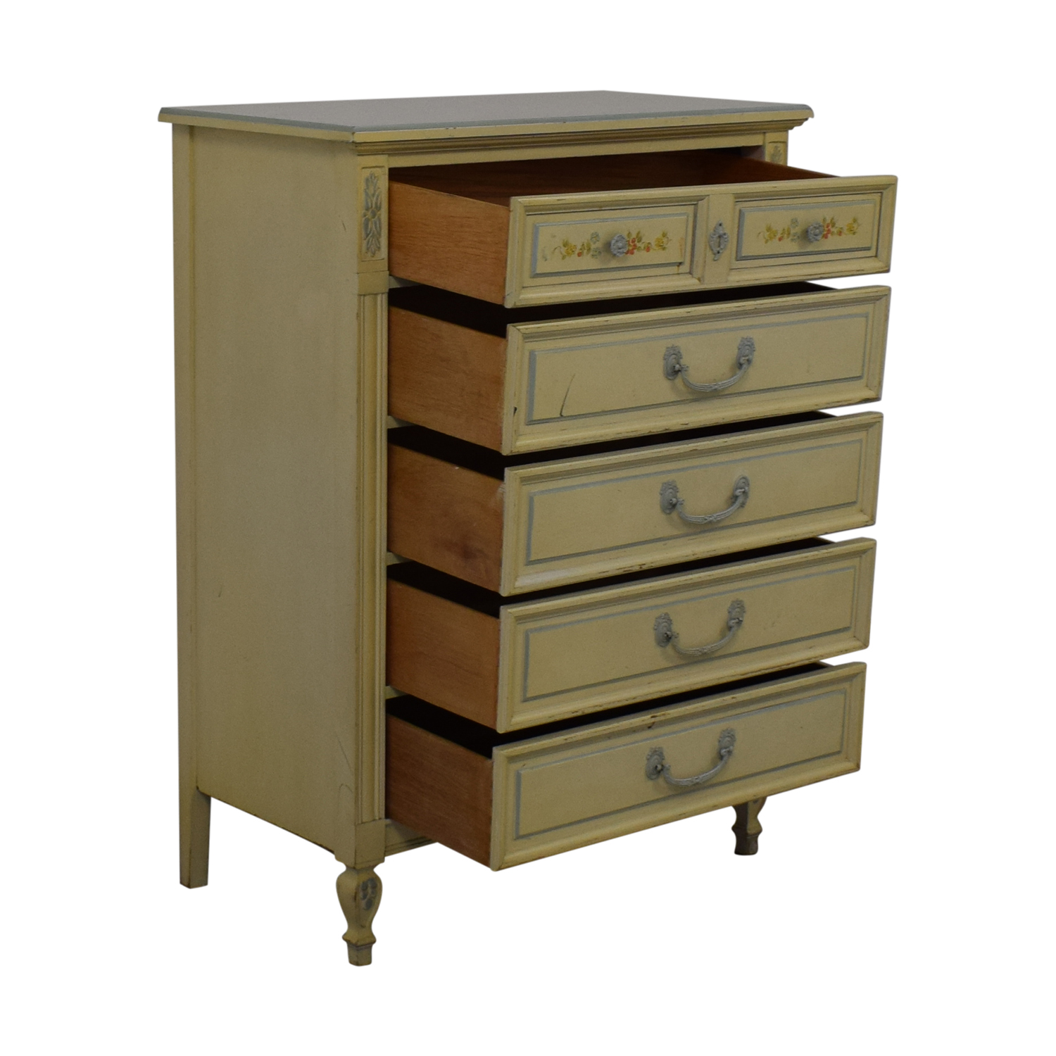 Dixie Furniture Company Dixie Furniture Company Victorian Five-Drawer Dresser Storage
