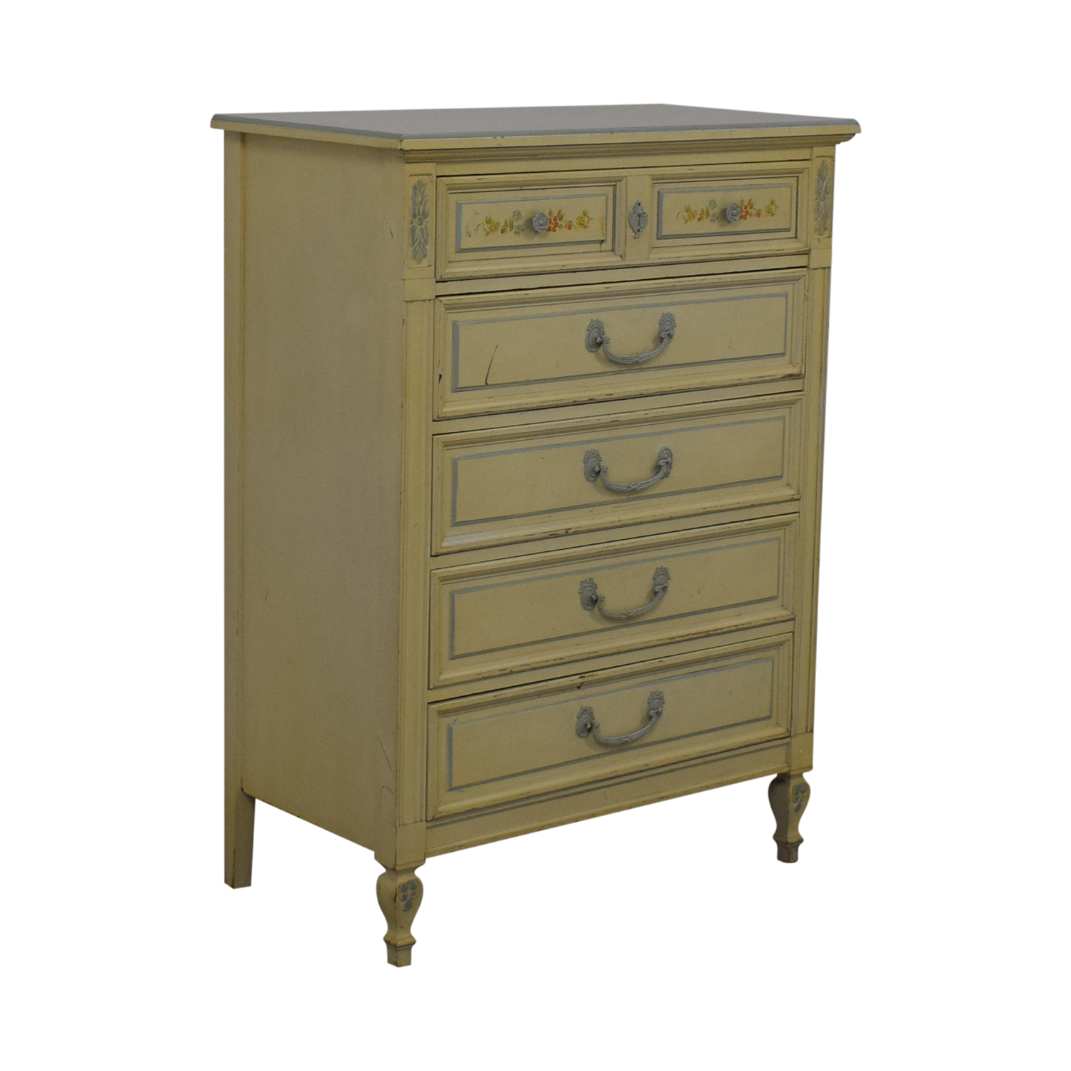 Dixie Furniture Company Dixie Furniture Company Victorian Five-Drawer Dresser Cream
