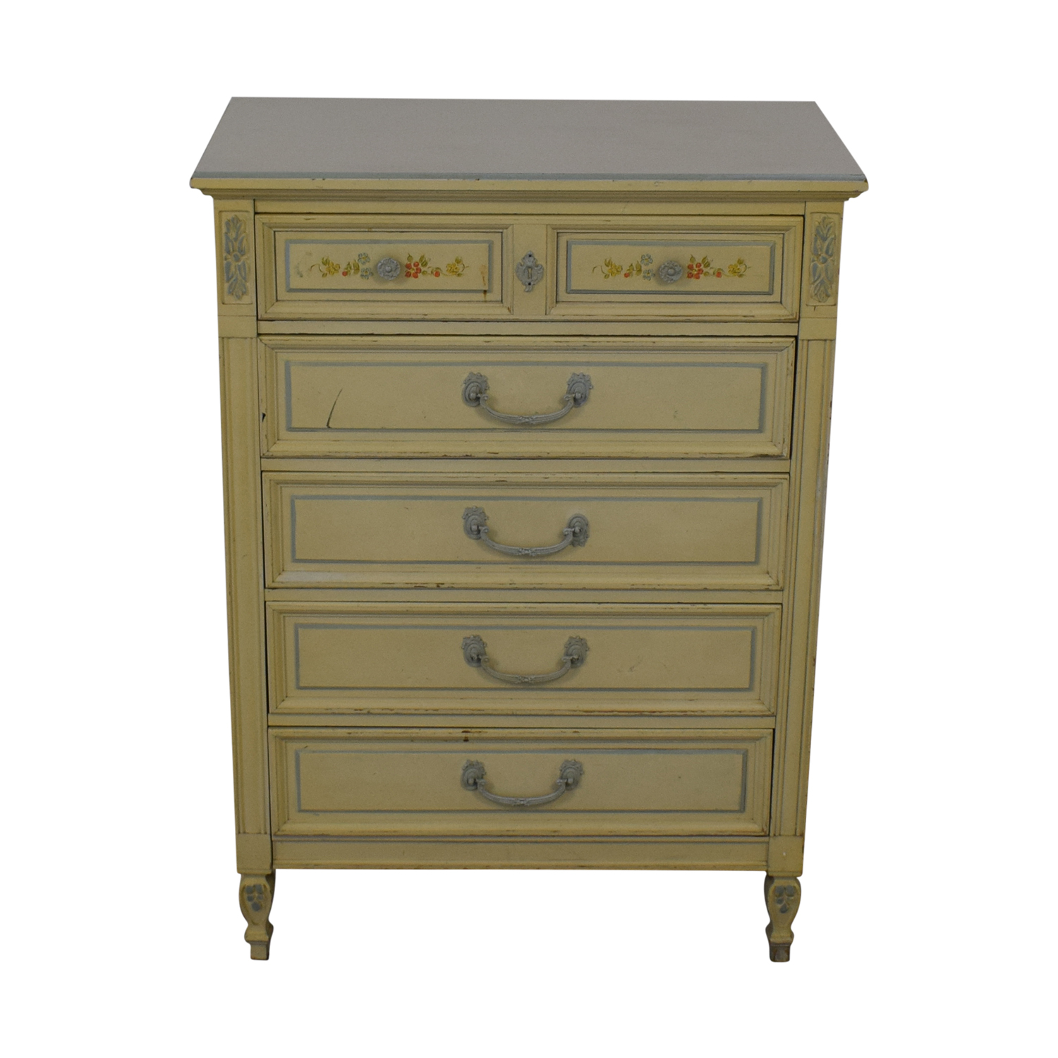 Dixie Furniture Company Dixie Furniture Company Victorian Five-Drawer Dresser second hand