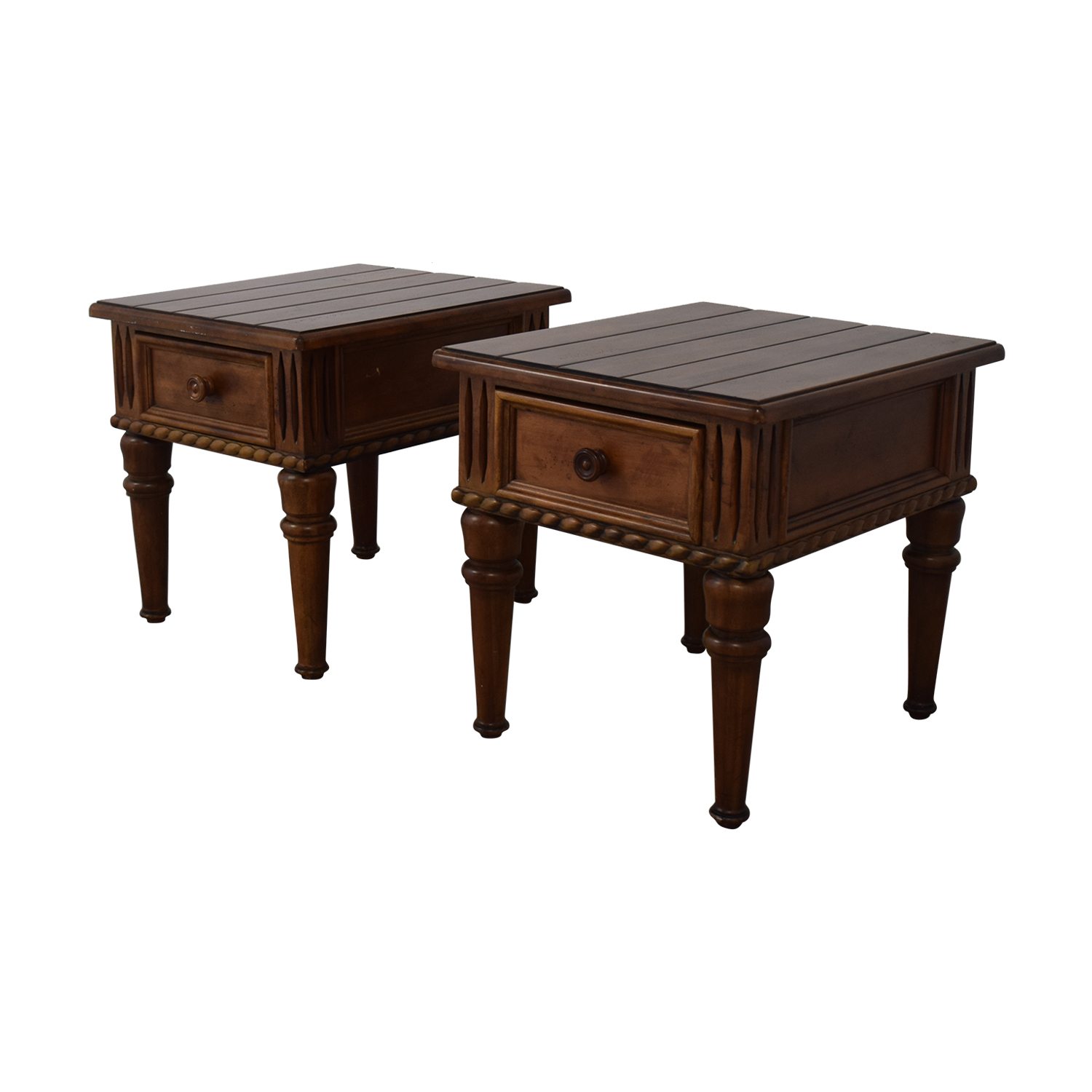 Thomasville Thomasville Ernest Hemingway Collection Single Drawer End Tables nj