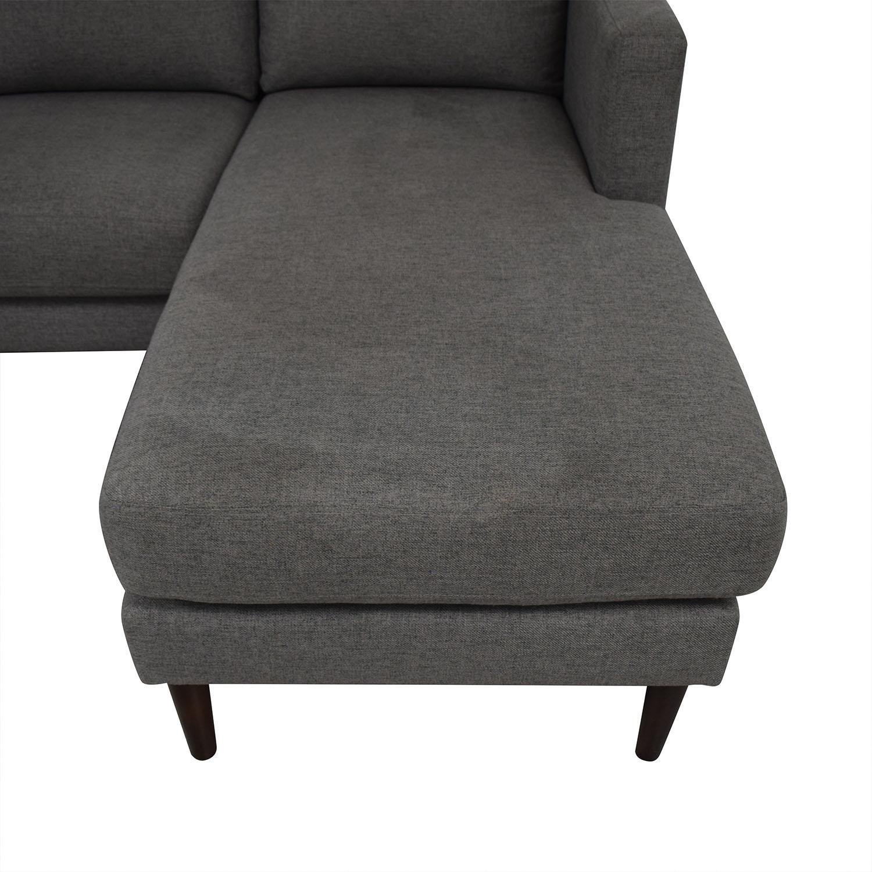 Rivet Revolve Modern Reversible Chaise Sectional used