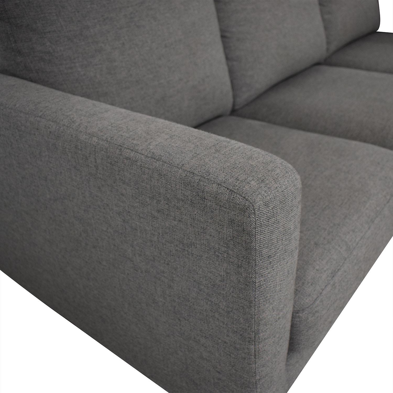 Rivet Revolve Modern Reversible Chaise Sectional / Sectionals