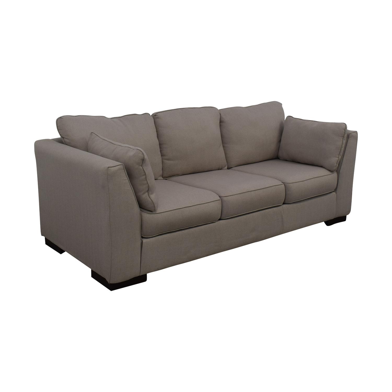 shop Ashley Neutral Three-Seat Sofa Ashley Furniture Classic Sofas