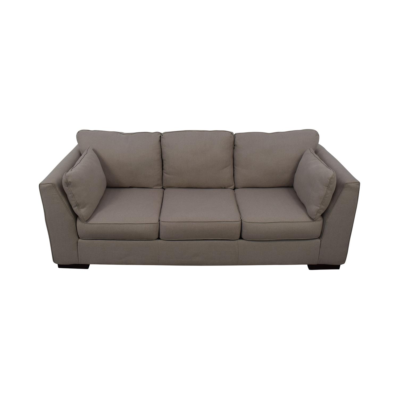 shop Ashley Neutral Three-Seat Sofa Ashley Furniture