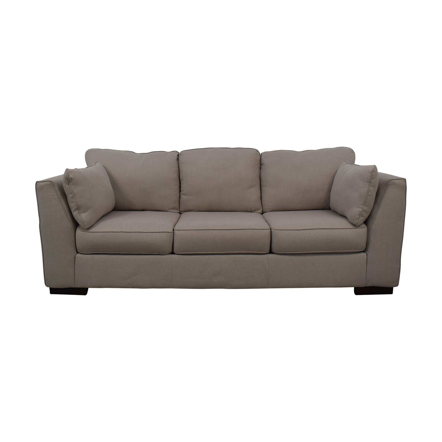 Ashley Furniture Neutral Three-Seat Sofa sale