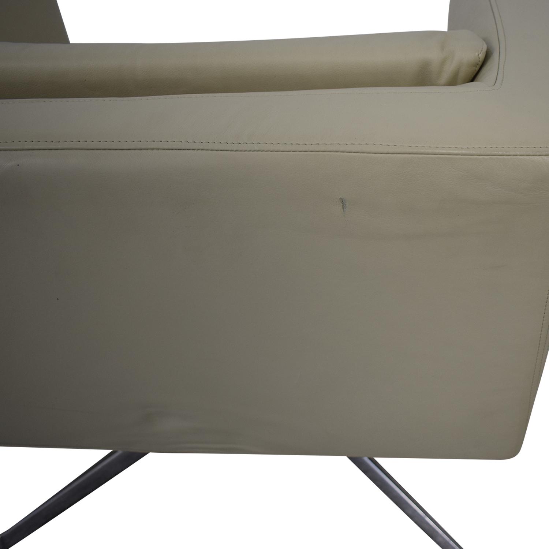 Verzelloni Cream Leather Cubica Armchair / Chairs