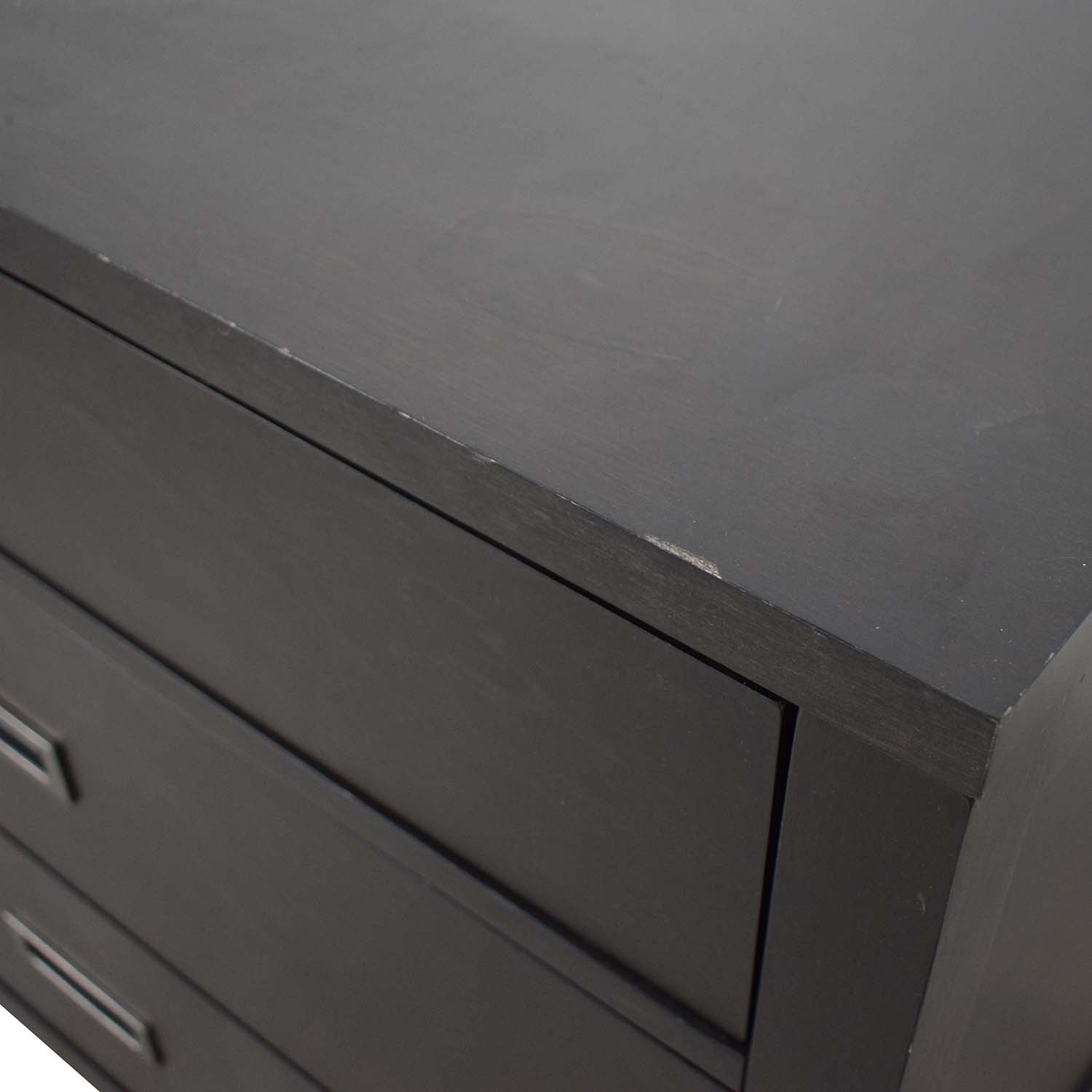 shop Crate & Barrel Arch Grey-Brown Three-Drawer Chest Crate & Barrel