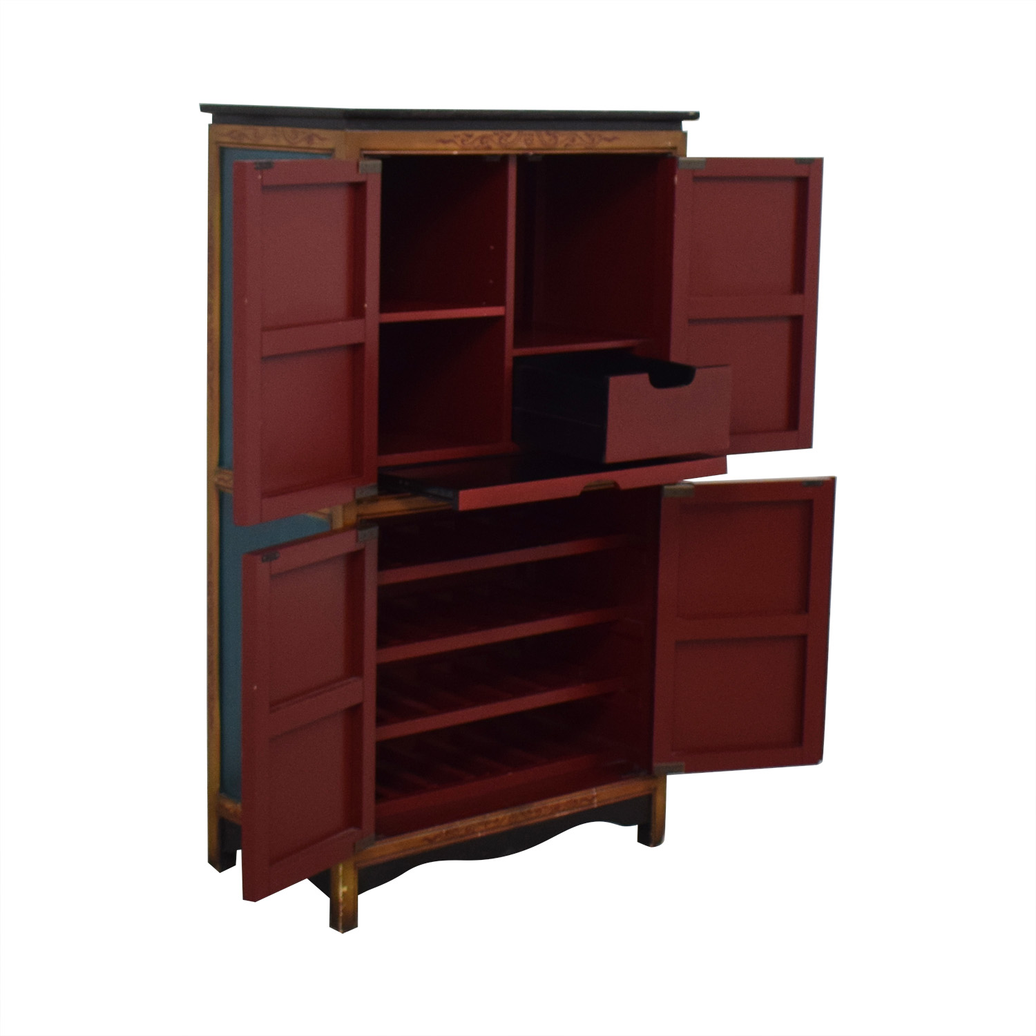 Pier 1 Decorative Wine Cabinet / Storage