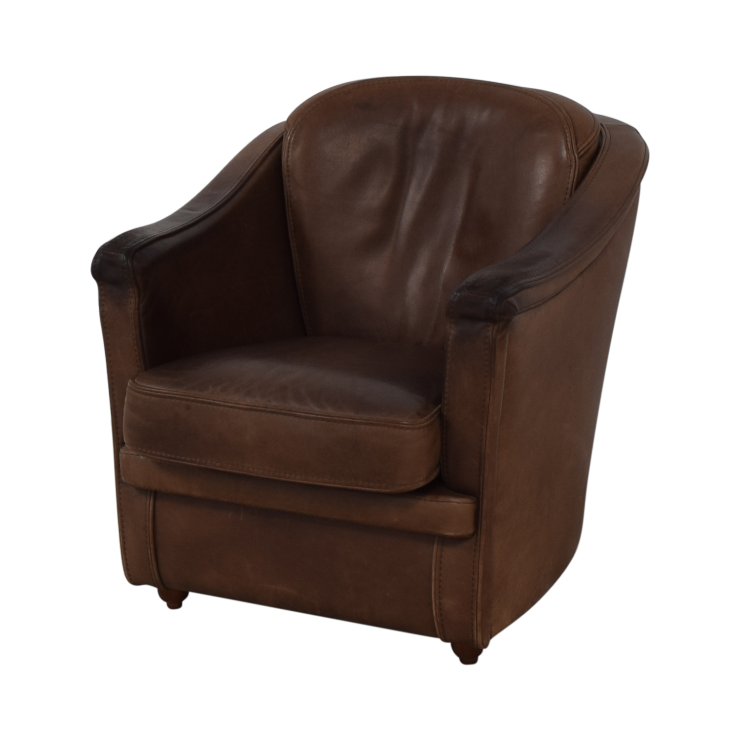 Maurice Villency Maurice Villency Leather Armchair Brown