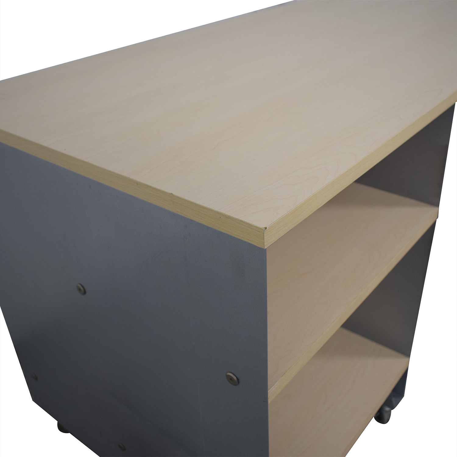 The Container Store The Container Store Rolling Desk beige