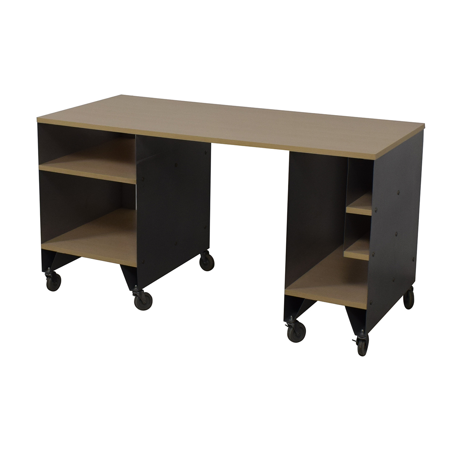 shop The Container Store Rolling Desk The Container Store