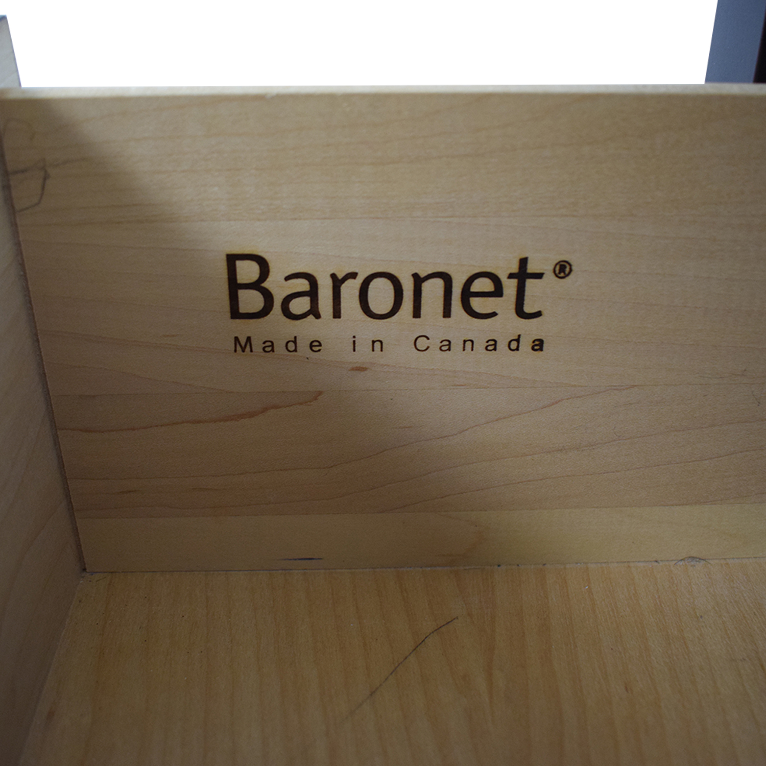 Baronet Baronet Modern Two-Drawer Nightstands for sale