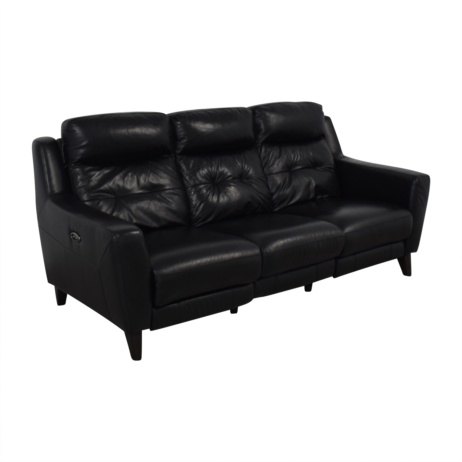 Bob's Discount Furniture Bob's Discount Furniture Black Reclining Sofa for sale