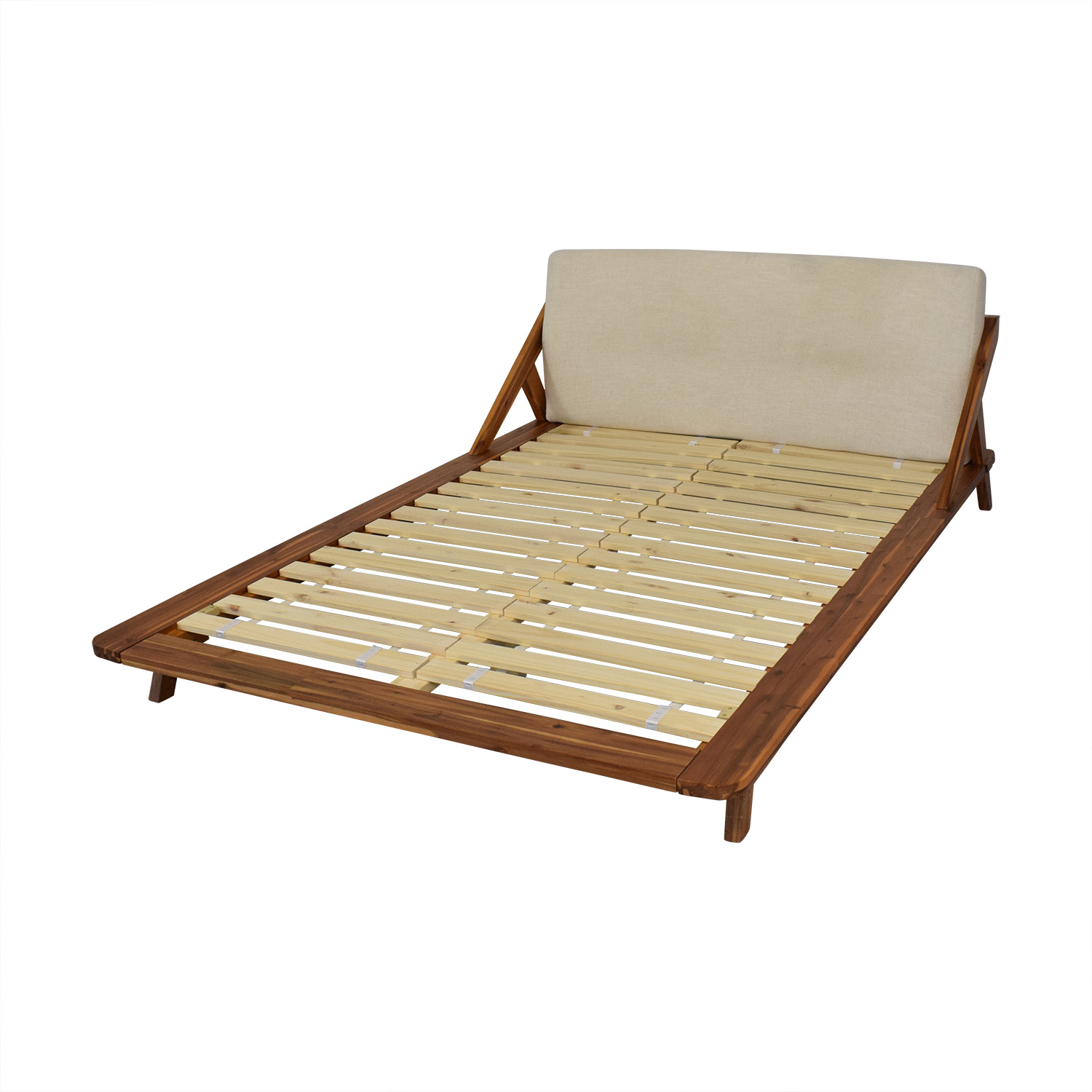 CB2 CB2 Drommen Acacia Wood Full Bed for sale