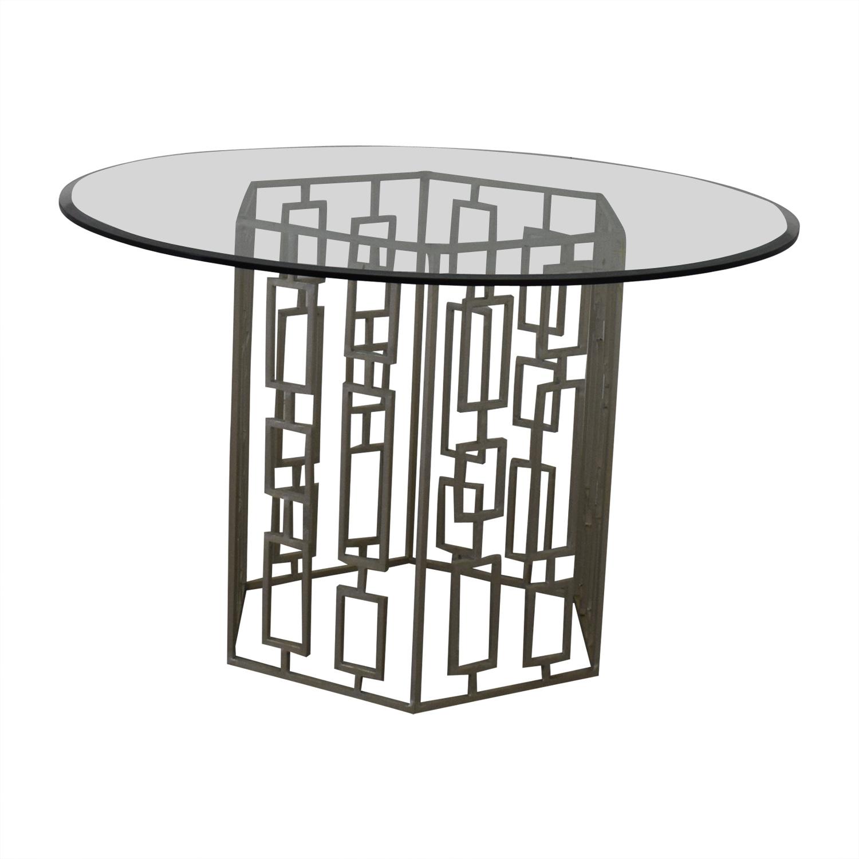 Zinc Door Zinc Door Contemporary Glass Table dimensions