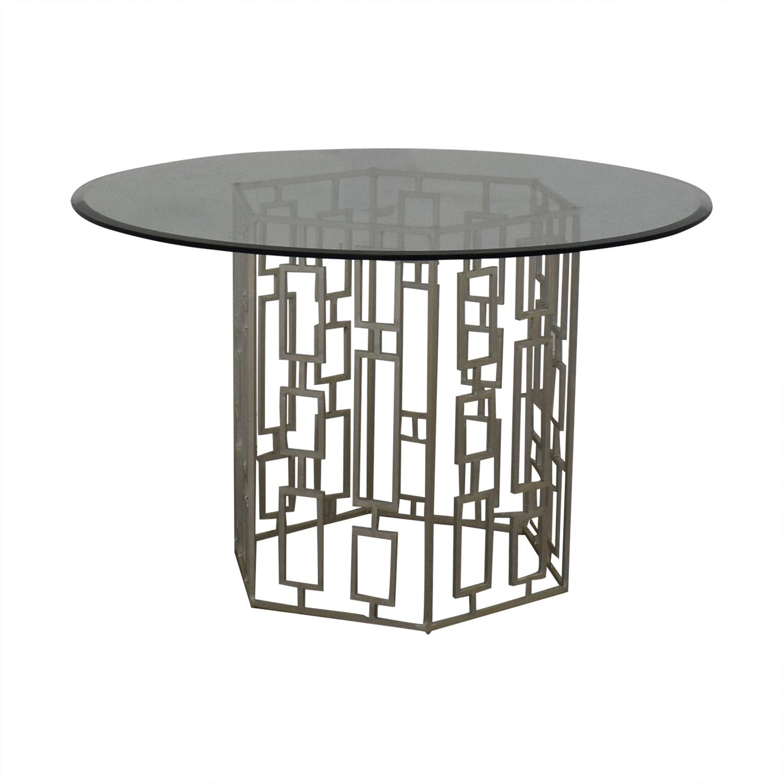 buy Zinc Door Zinc Door Contemporary Glass Table online