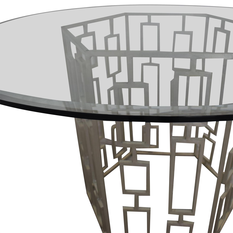 Zinc Door Zinc Door Contemporary Glass Table second hand