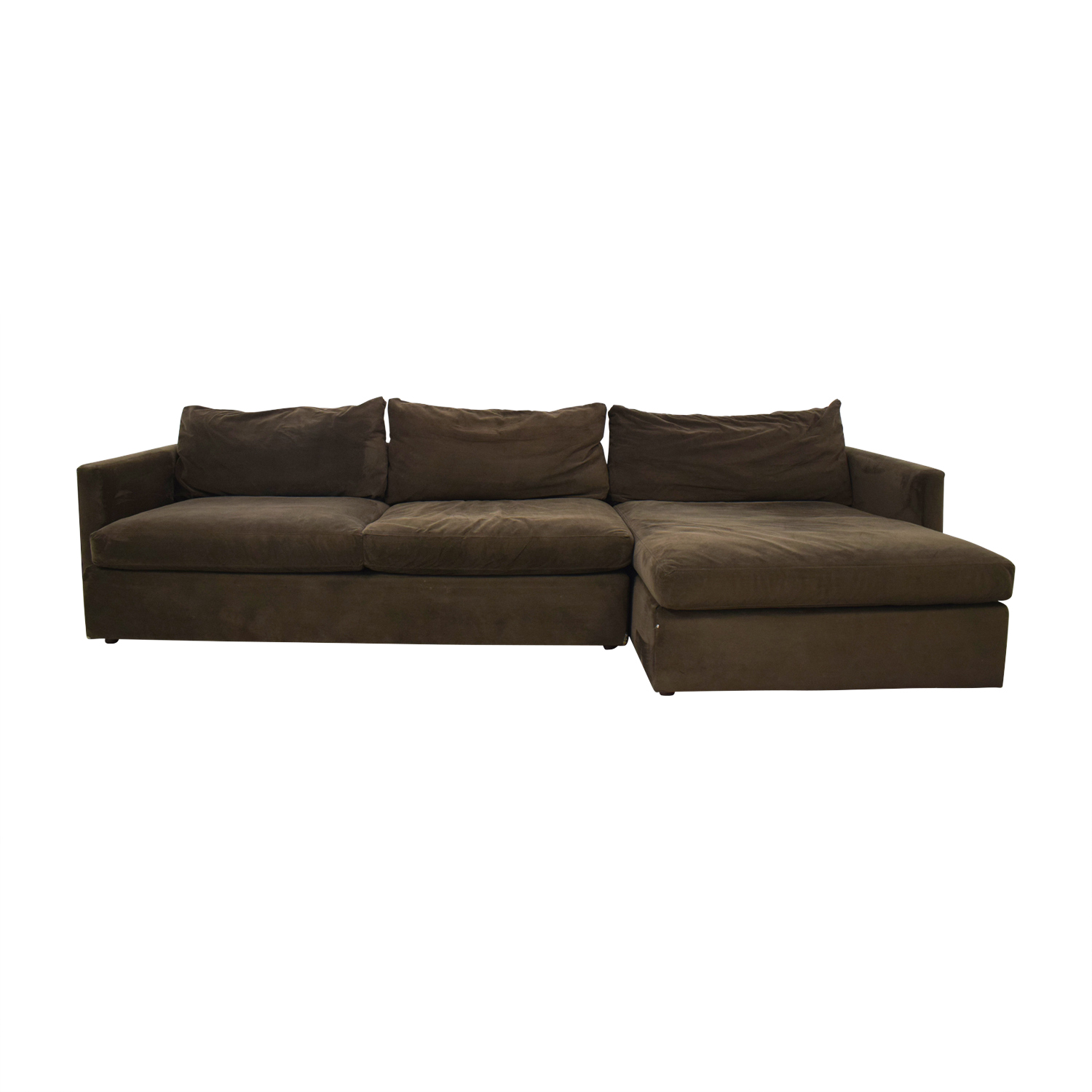 Crate & Barrel Brown Sectional / Sofas