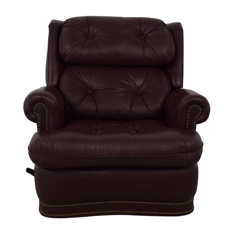 Distinctions Furniture Leather Burgundy Recliner sale