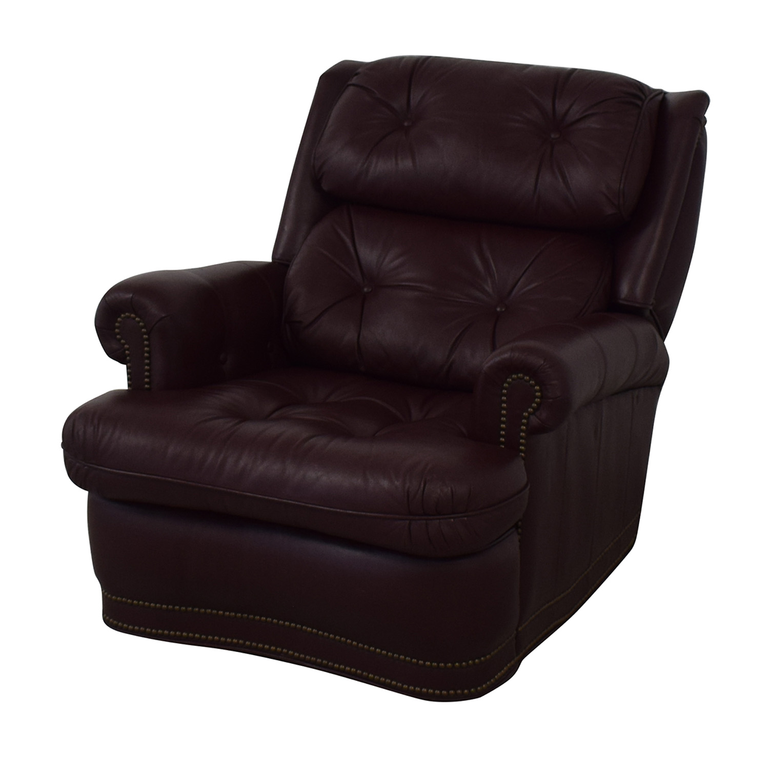buy Distinctions Furniture Leather Burgundy Recliner Distinctions Furniture