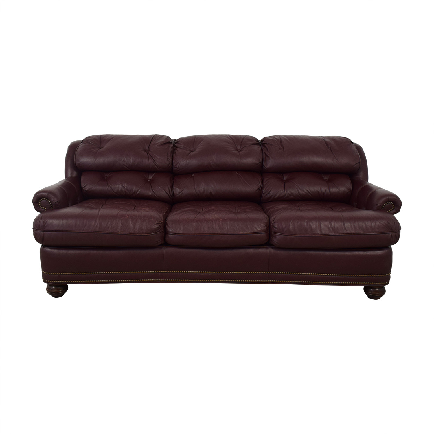 Distinctions Furniture Red Nailhead Sofa sale