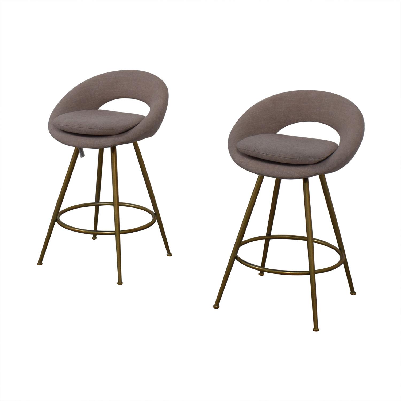 shop West Elm Orb Upholstered Bar Stools West Elm Chairs