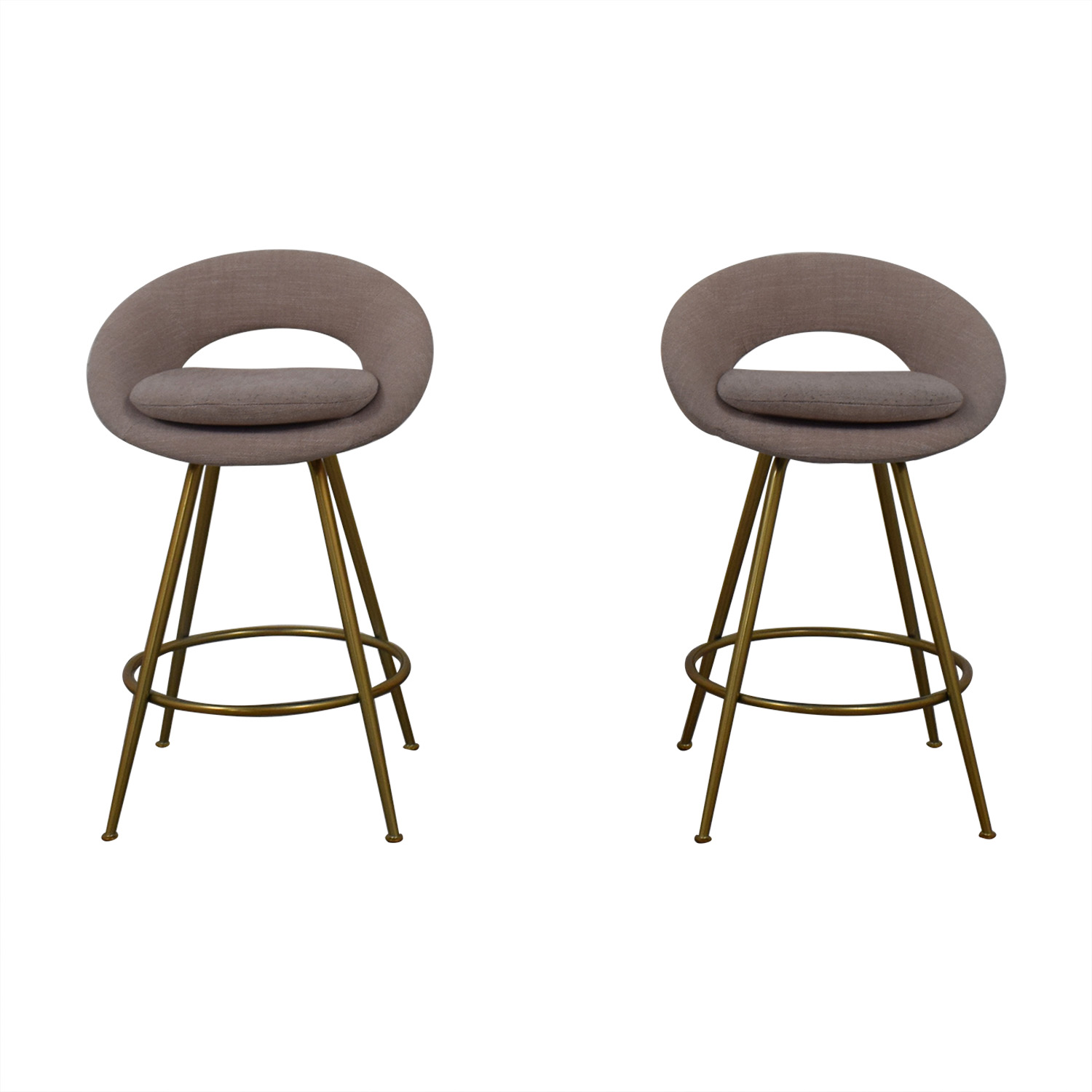 West Elm West Elm Orb Upholstered Bar Stools coupon