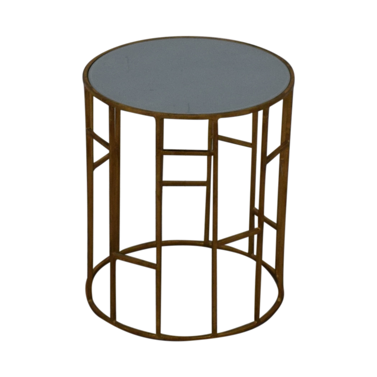 Safavieh Safavieh Doreen Gold & Glass Accent Table dimensions