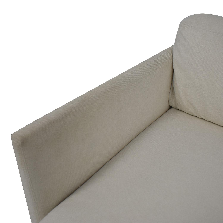 Mitchell Gold + Bob Williams Mitchell Gold + Bob Williams White Three-Cushion Sofa dimensions