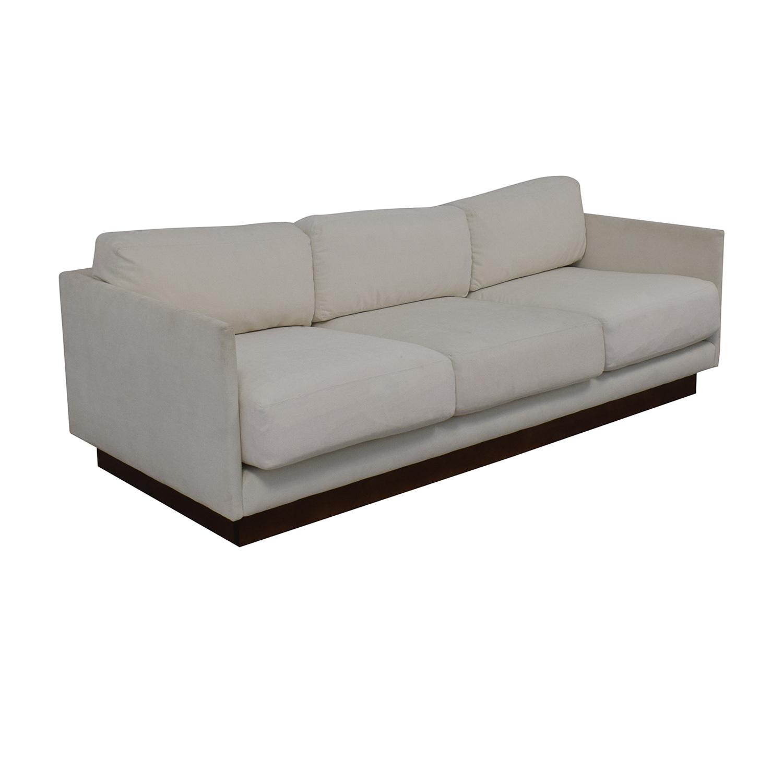 Mitchell Gold + Bob Williams White Three-Cushion Sofa / Classic Sofas