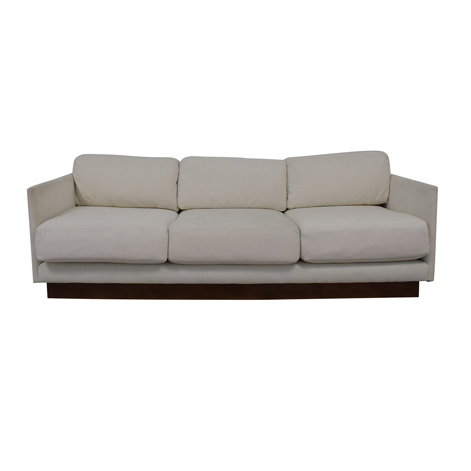 Mitchell Gold + Bob Williams Mitchell Gold + Bob Williams White Three-Cushion Sofa dimensions