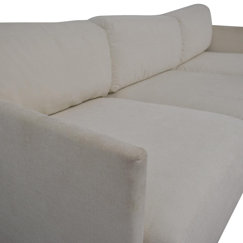 shop Mitchell Gold + Bob Williams White Three-Cushion Sofa Mitchell Gold + Bob Williams Sofas