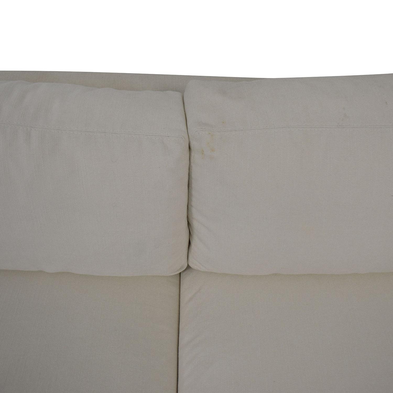 Mitchell Gold + Bob Williams Mitchell Gold + Bob Williams White Three-Cushion Sofa price