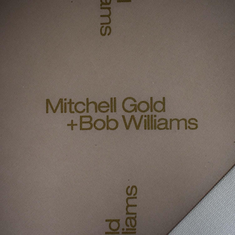 Mitchell Gold + Bob Williams Mitchell Gold + Bob Williams White Three-Cushion Sofa on sale