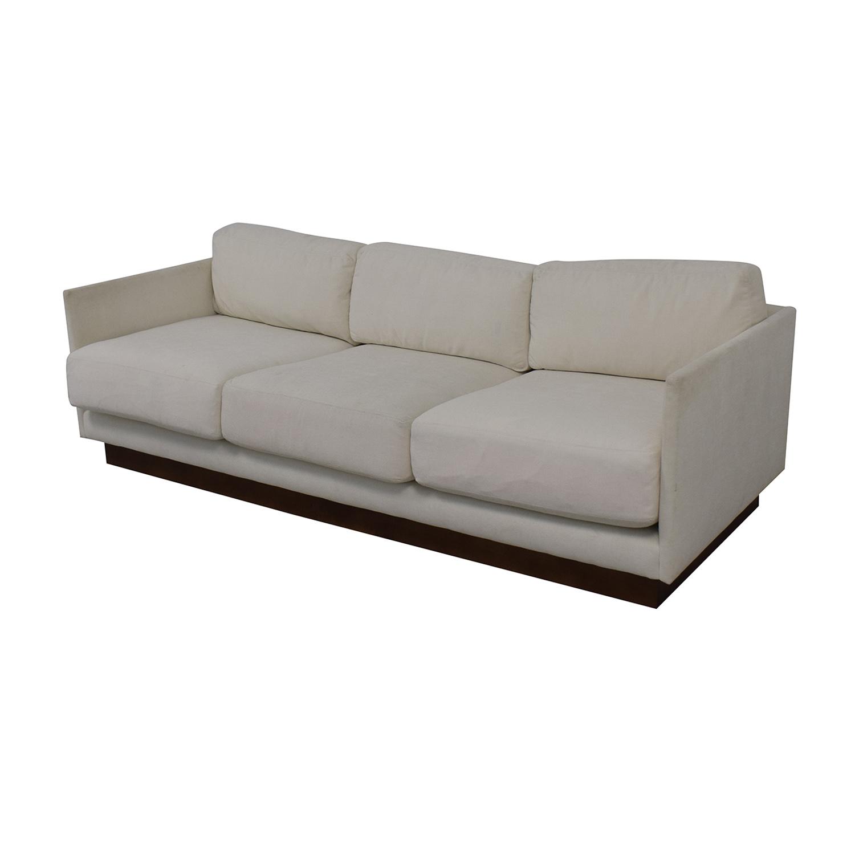 Mitchell Gold + Bob Williams Mitchell Gold + Bob Williams White Three-Cushion Sofa Classic Sofas
