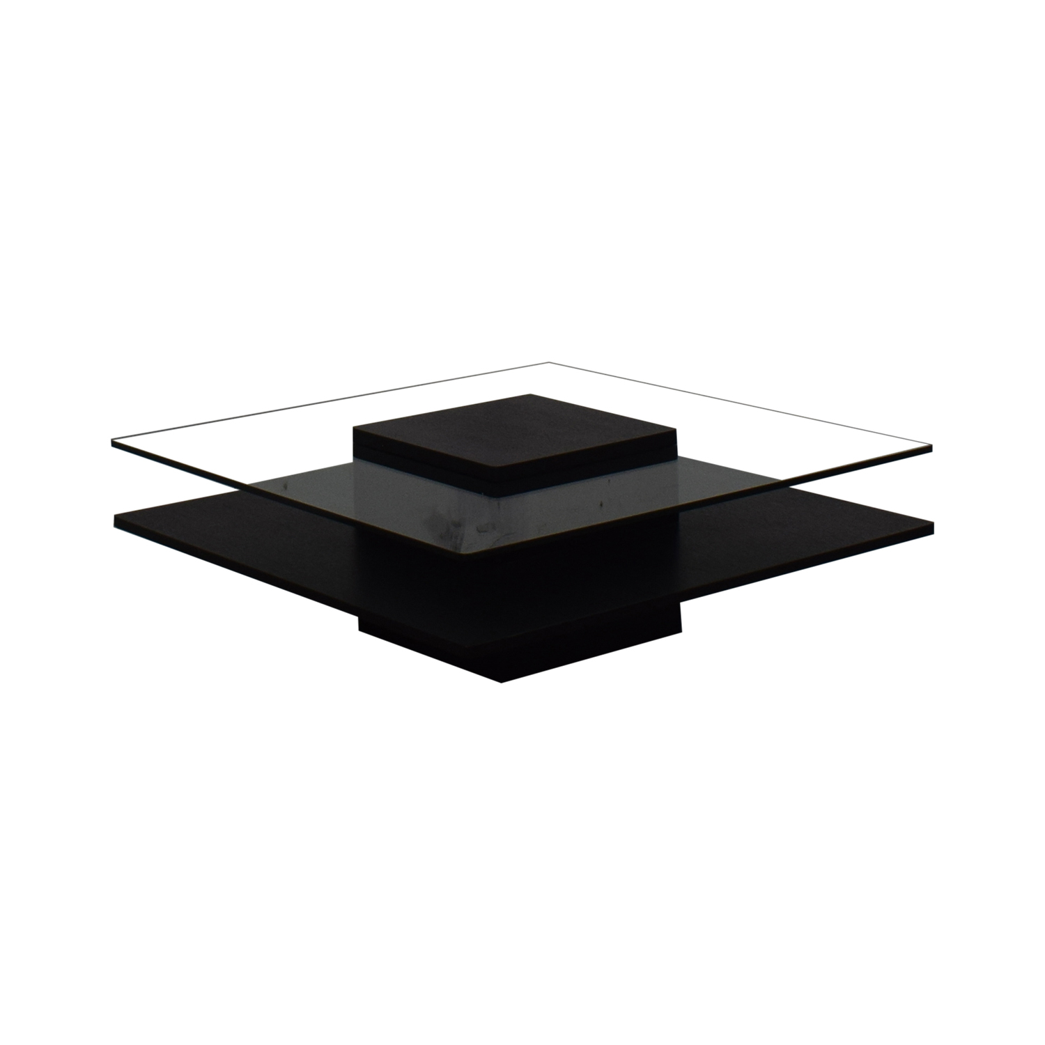 Contemporary Tinted Glass Coffee Table used