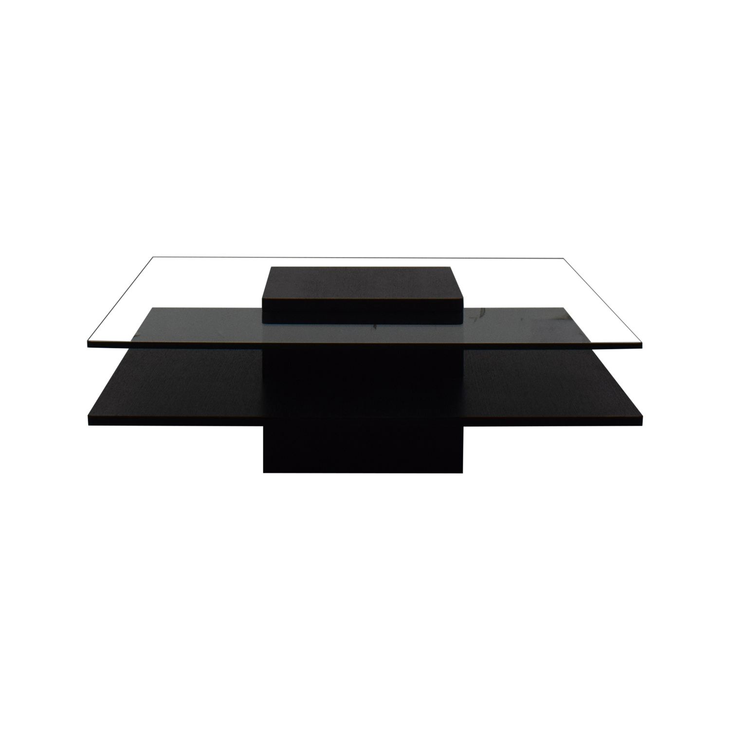 shop Contemporary Tinted Glass Coffee Table  Coffee Tables