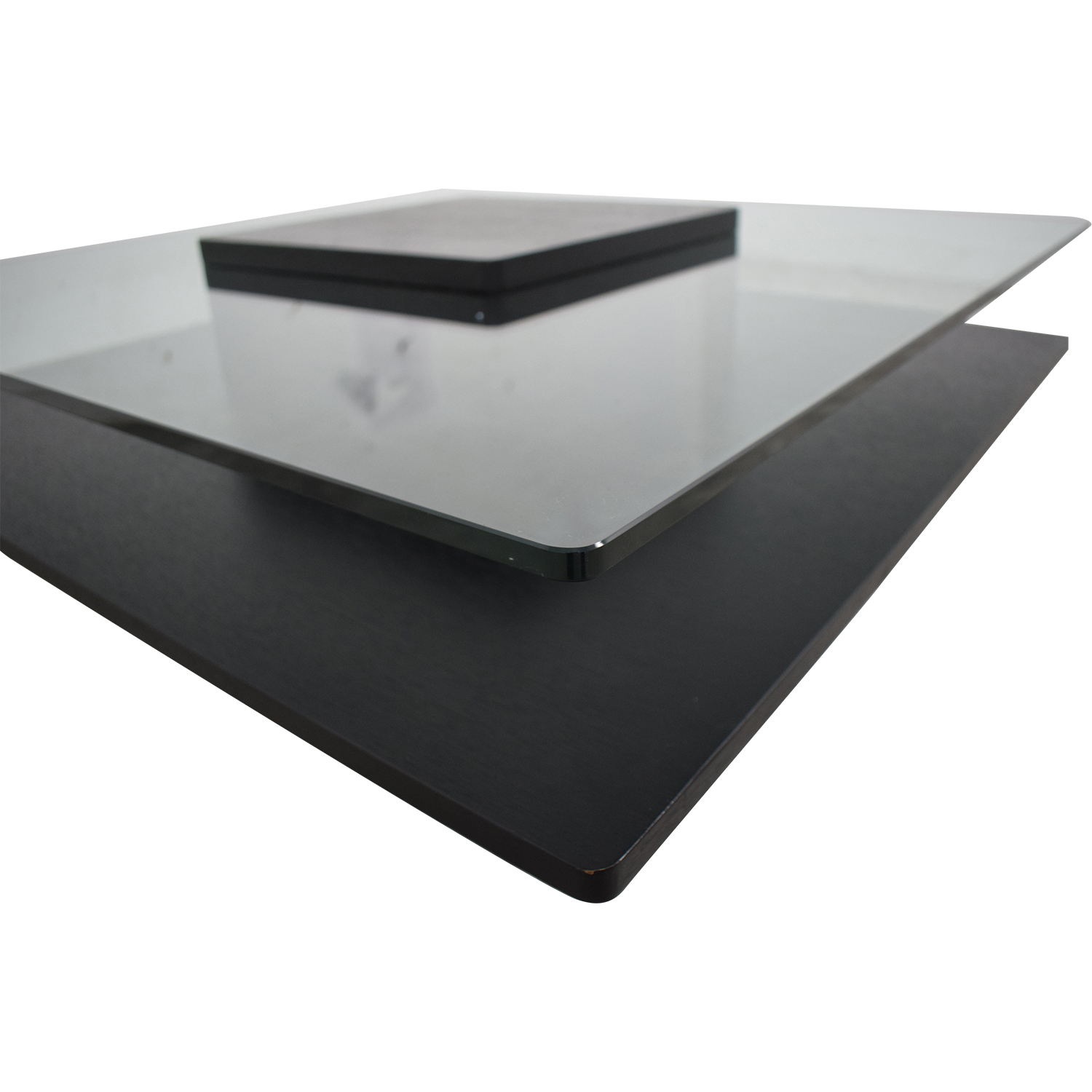 Contemporary Tinted Glass Coffee Table second hand
