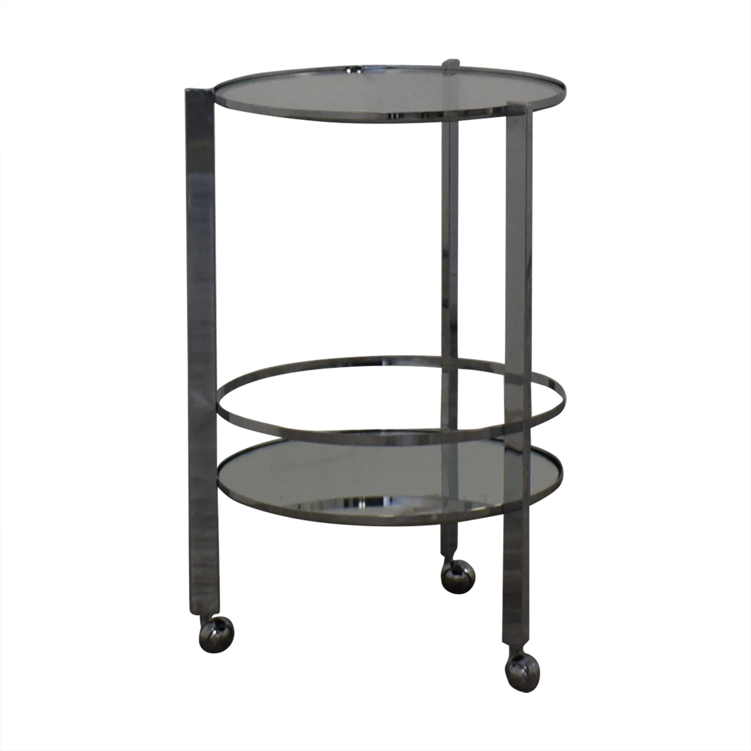 CB2 Round Metal and Glass Cocktail Table / Tables