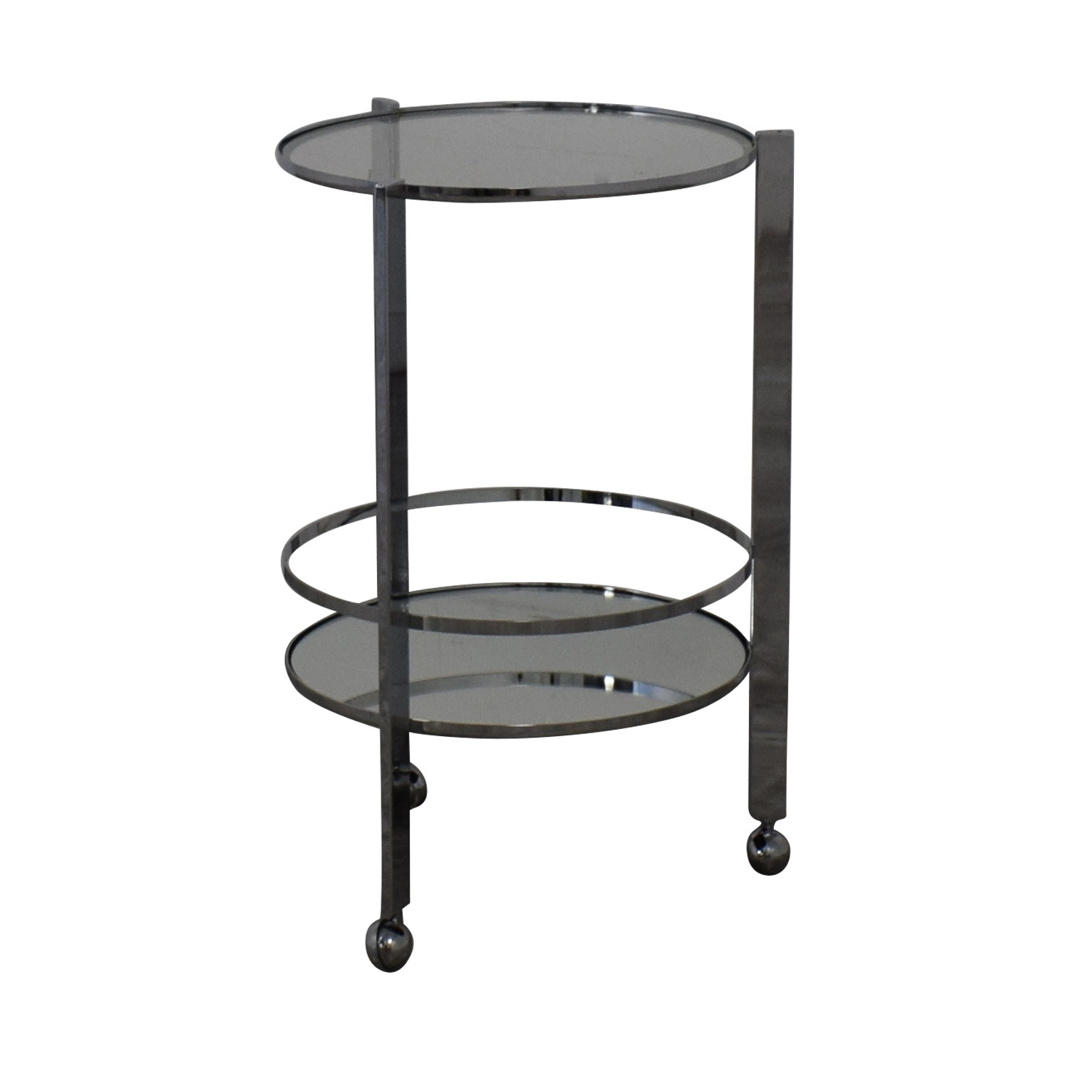 buy CB2 Round Metal and Glass Cocktail Table CB2 Accent Tables