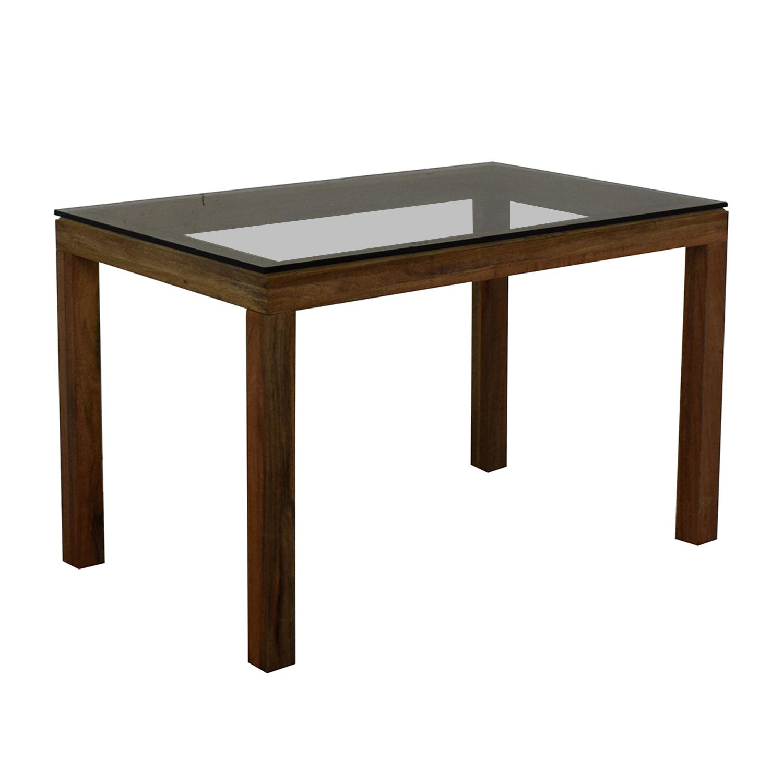 buy West Elm Glass Top Table West Elm Tables