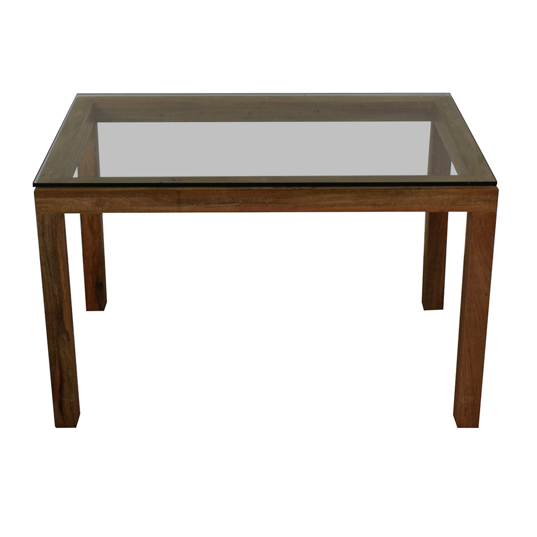 West Elm West Elm Glass Top Table dimensions